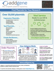 Addgene request flyer