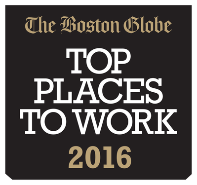 Addgene #1 Small Company in Boston Globe Best Places to Work 2016