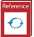 refernce icon red book